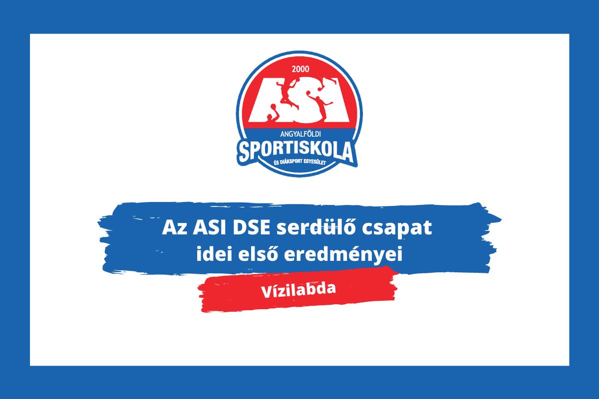 Vízilabda: az ASI DSE serdülő csapat idei első eredményei