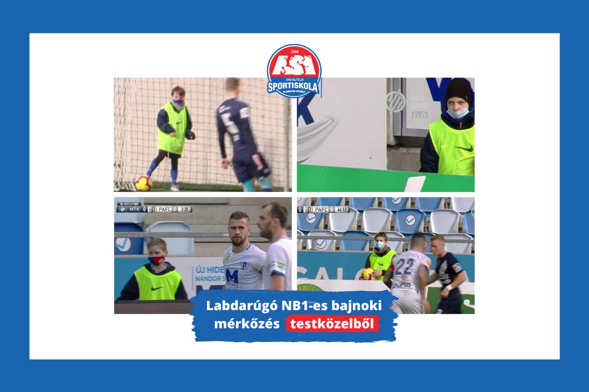 Labdarúgó NB1-es bajnoki mérkőzés testközelből