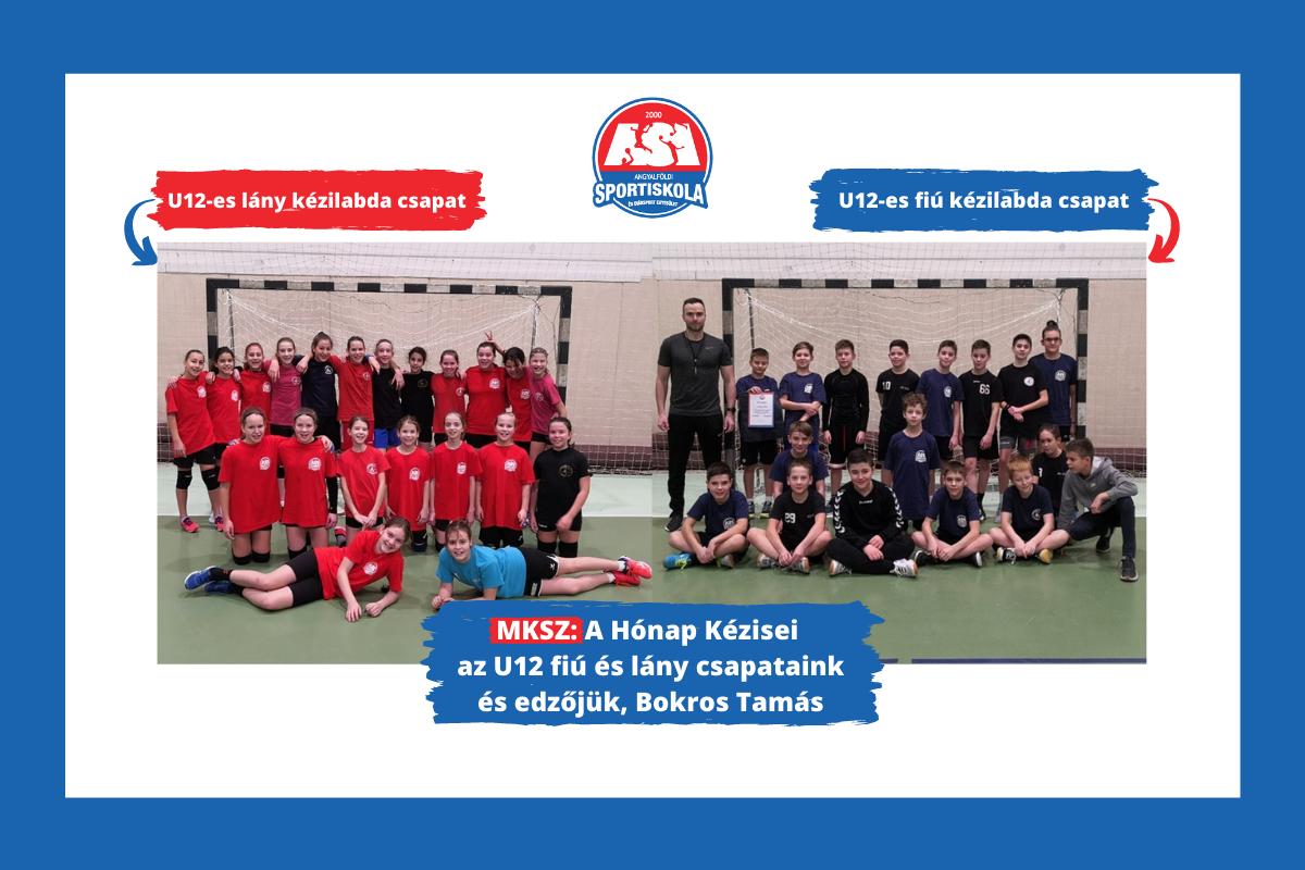 MKSZ: A Hónap Kézisei az ASI U12 fiú és lány csapatai és edzőjük, Bokros Tamás