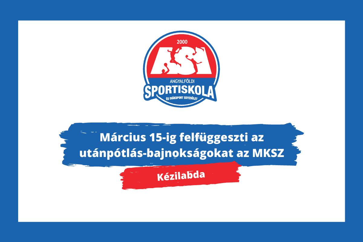 Március 15-ig felfüggeszti az utánpótlás-bajnokságokat az MKSZ