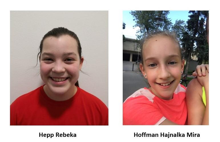 Hepp Rebeka és Hoffman Hajnalka Mira– U12 lány